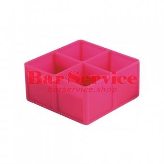 Форма для льда силик куб 45*45мм 4 ячейки
