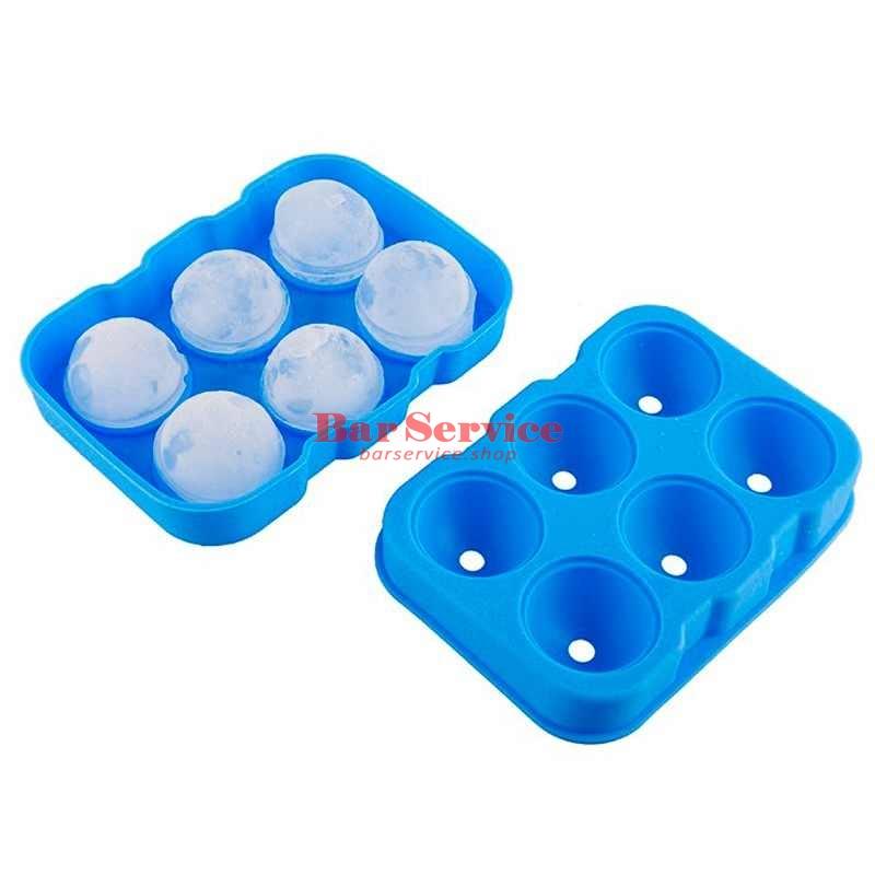 Форма для льда силик шар d-43мм 6 ячеек