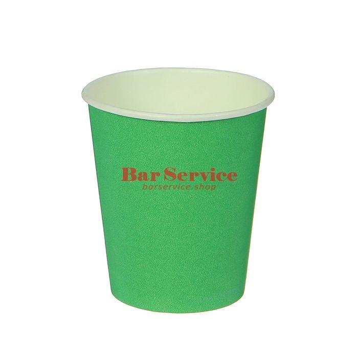 Стакан бумажный 250мл 50 шт. зеленый