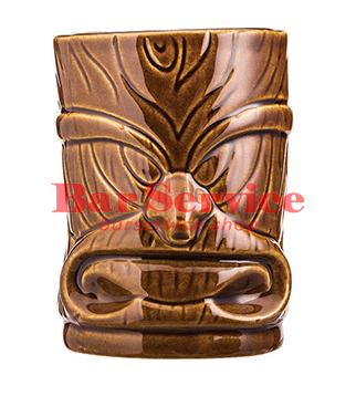 "Стакан д/коктейлей ""Тики"";керамика 450мл, коричневый."