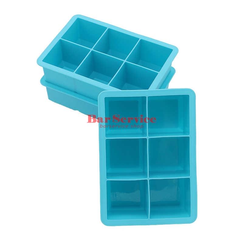 Форма для льда силик куб 45*45мм 6 ячеек