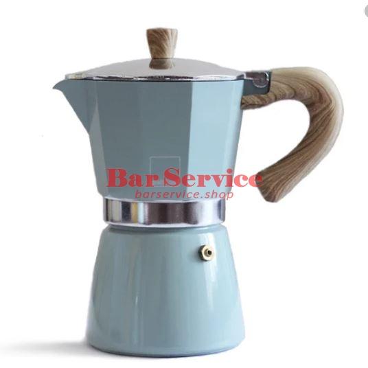 Кофеварка гейзерная Gnali Zani Venezia зеленая на 6п