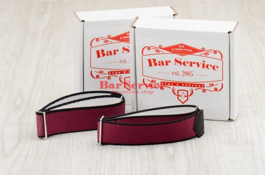 Армбенды, цвет бордо. Bar Service