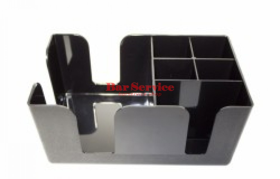 Подставка барная д/салфеток; абс-пластик; H=10,L=24,B=14.5см; черный