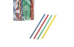 Трубочки б/изгиба L=12,5см [100шт]; D=5,H=170,L=130,B=20мм; разноцветн.