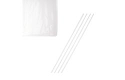 Трубочки б/изгиба [1000шт]; D=0.3,L=21см; белый