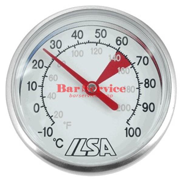Термометр д/молока; сталь; D=45,L=138/125,B=55мм; металлич.