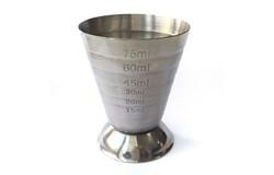 Джиггер металлический с делениями, 80 мл