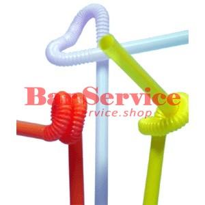 Трубочки  со сгибом декоративные 27,5 см 50шт в уп разноцветные