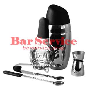 Набор барменский 5 предметов, черный