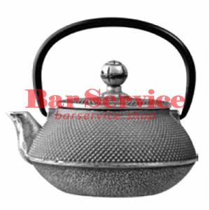 Чайник с ситечком; чугун; 650 мл; D=8.7,H=9.4,L=14.5; черный